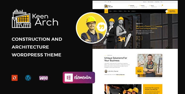 Keenarch – Building & Construction WordPress Theme
