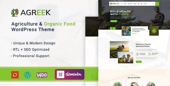 Agreek – Agriculture & Organic Food WordPress Theme