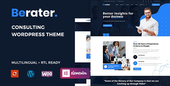 Berater – Consulting WordPress Theme