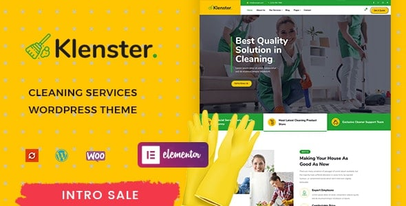Klenster – Cleaning Services WordPress Theme